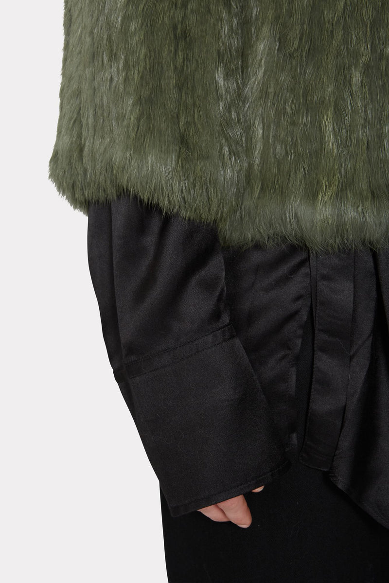 Green Rabbit Fur Coat