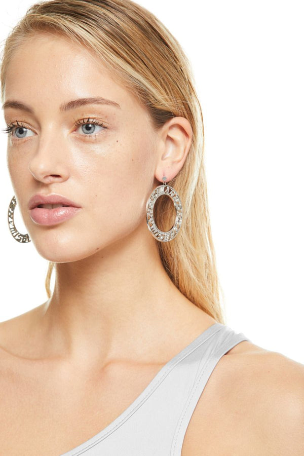 The Classic Circle Silver Earrings