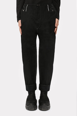DENIM COTTON RELAXED PANTS