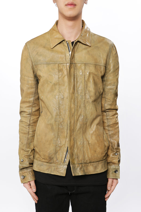 SHEEP SKIN LEATHER BLOUSON