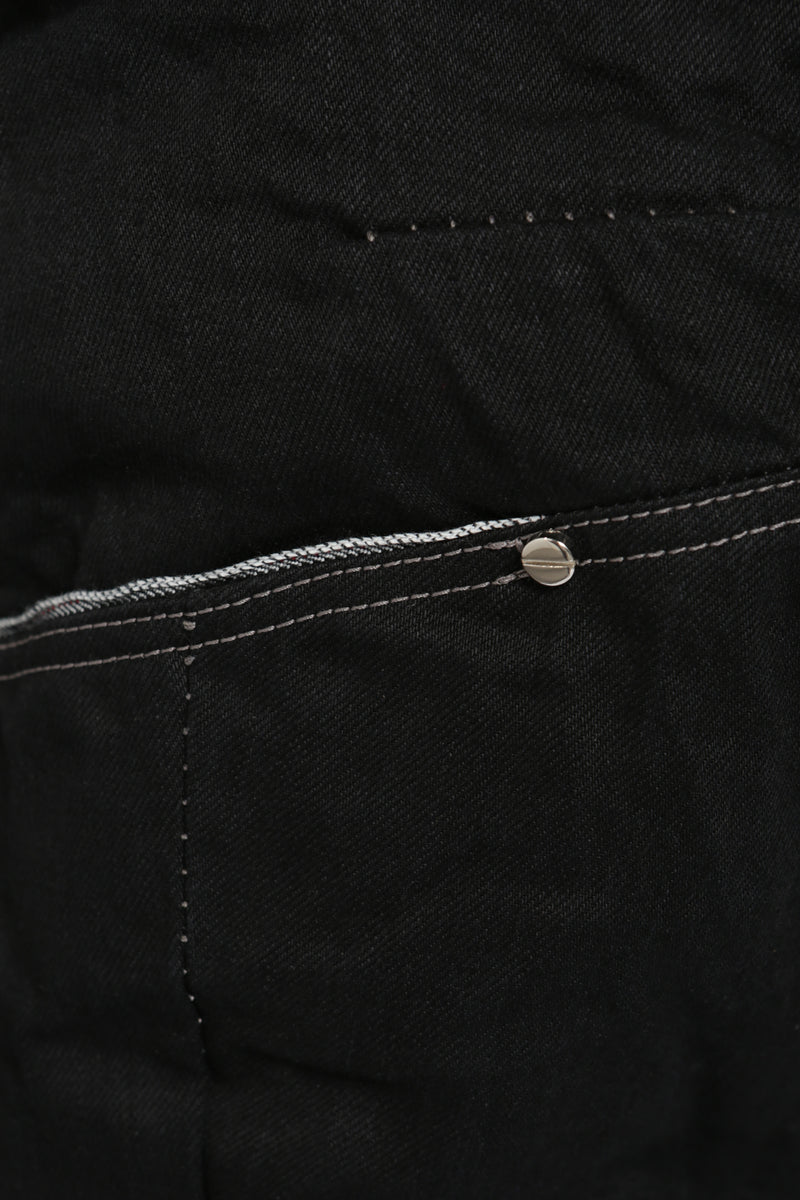 DENIM COTTON SLIM PANTS