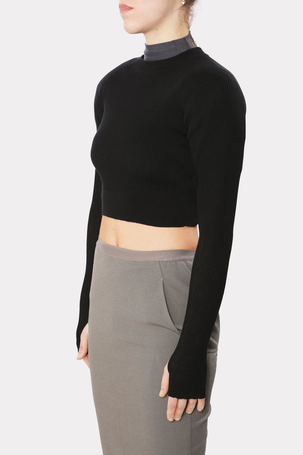 Lib Power Shoulder Knit Sweater