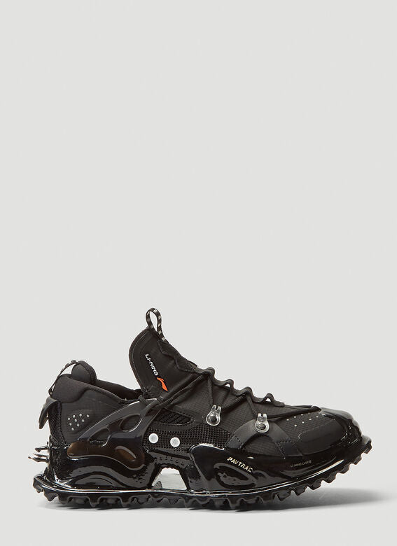 WOMENS TITAN HALO CHUNKY BLACK TRAINERS