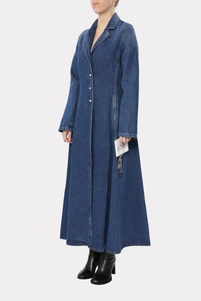 Single-Breasted Denim Coat