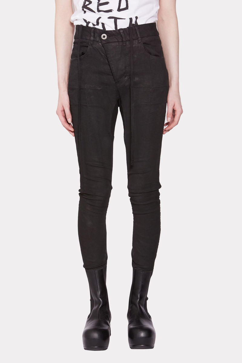 Womens Skinny Coated Jeans
