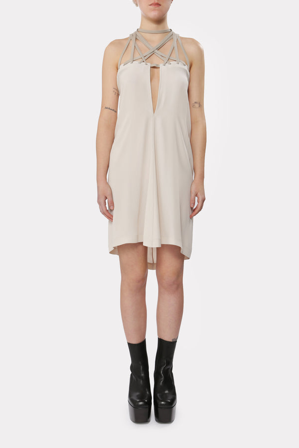 Megalaced Woven Dress