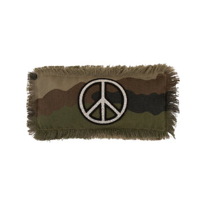 Camo Glitter Peace Sign Eye Pillow