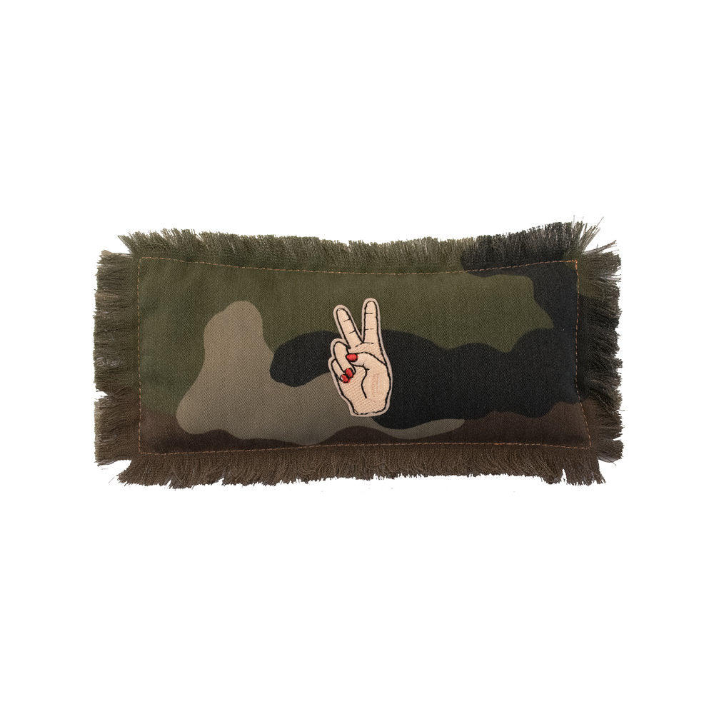 Camo Peace Sign Eye Pillow