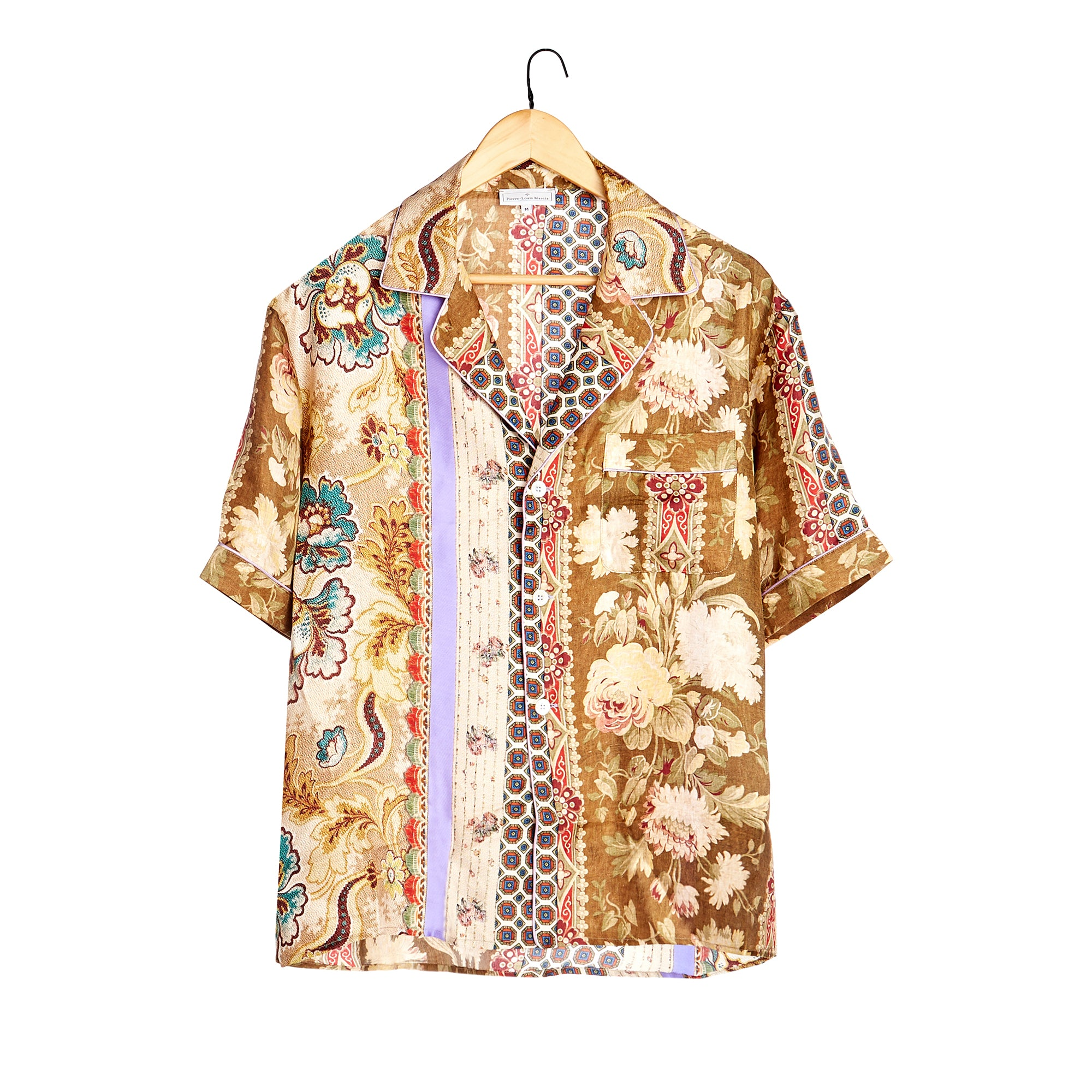 Mixed Print Silk Shirt