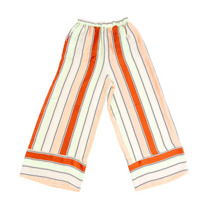 Striped Print Silk Pant