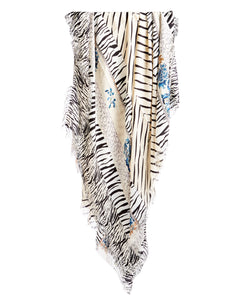 Fringed Silk Scarf
