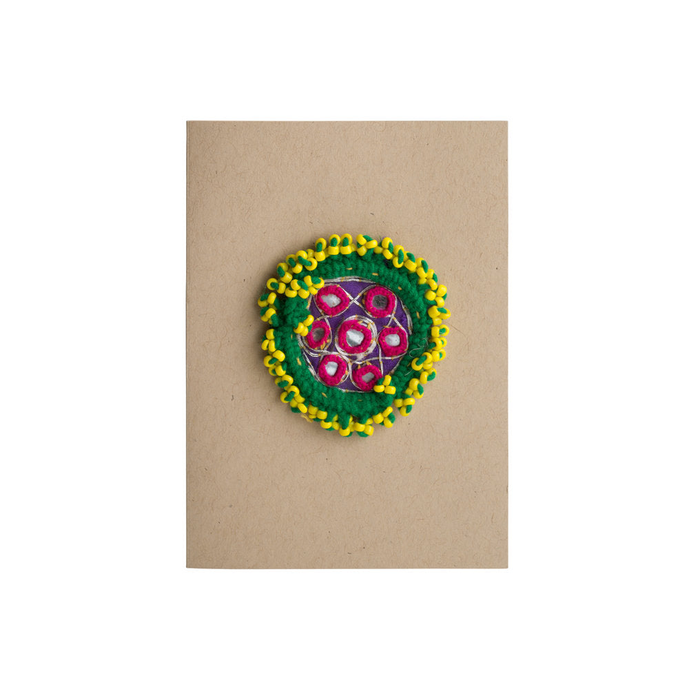 Beaded Afghani Dress Flower Card