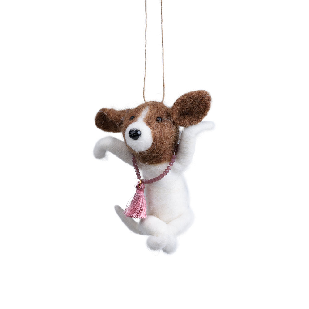 Yoga Dog Ornament