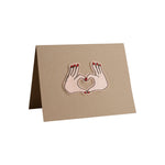 Heart Hands Card - A2