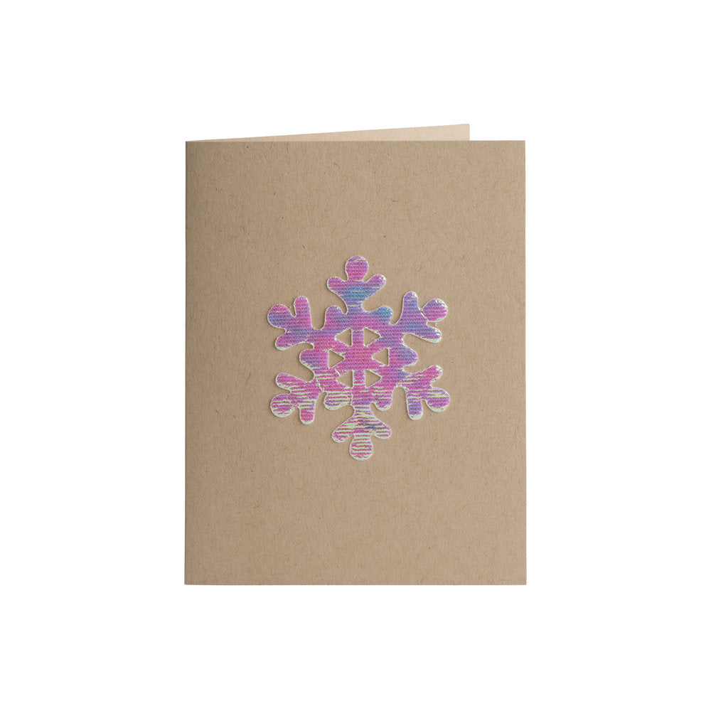 Iridescent Snowflake Card - A2