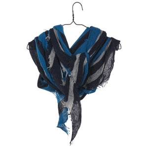 Diamond Scarf - Navy/Teal
