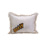 Silver Metallic BO$$Y Pillow
