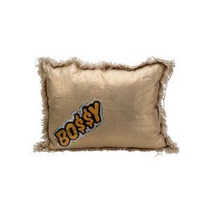 Gold Metallic BO$$Y Pillow