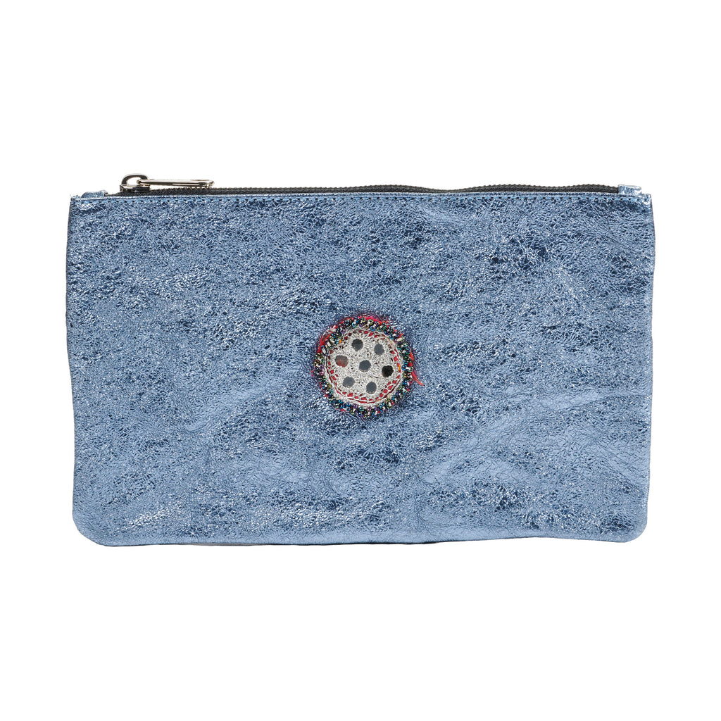 Metallic Embellished Pouch