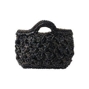 Bianca Raffia Bag - Black
