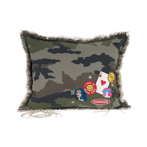 Camo Wonderwoman Danger Pillow