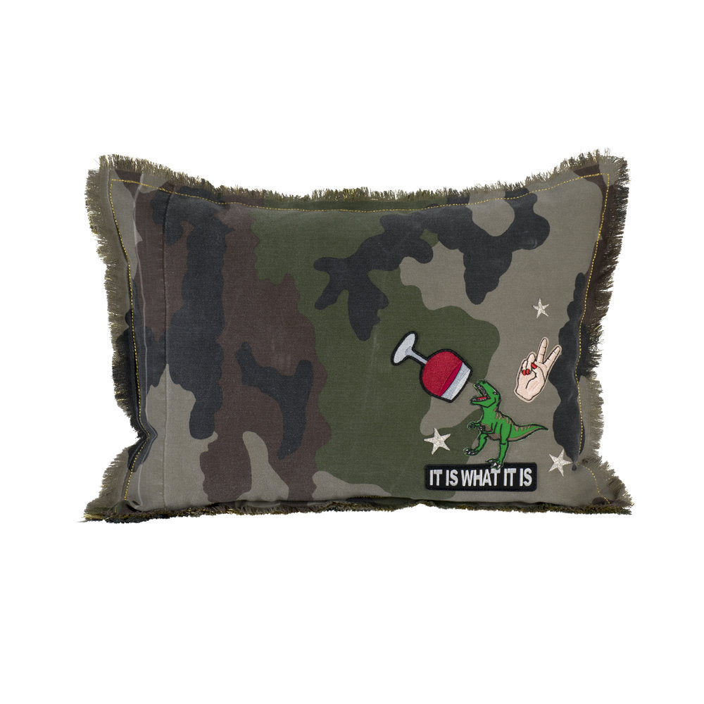 Camo Dino Wine Pillow