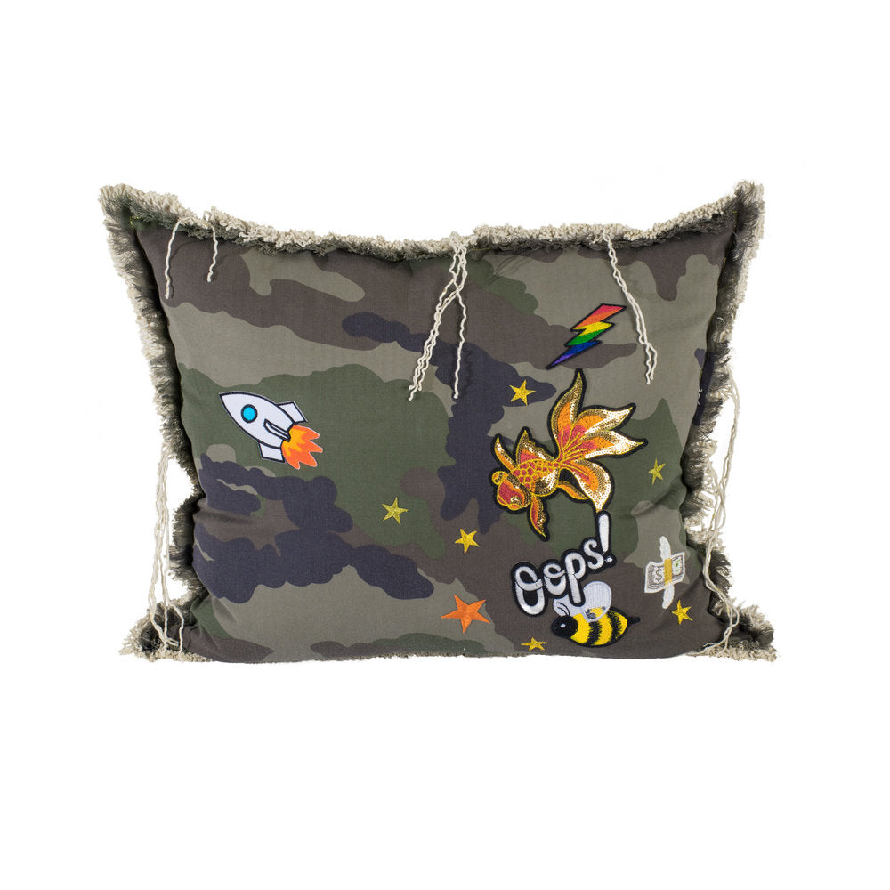 Camo Goldfish Oops Pillow