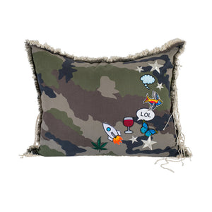 Camo Wine LOL Pillow