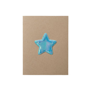 Iridescent Star Card - A2