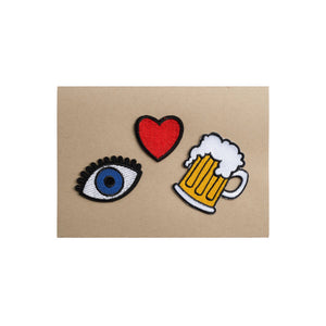 Eye Heart Beer Card - A7