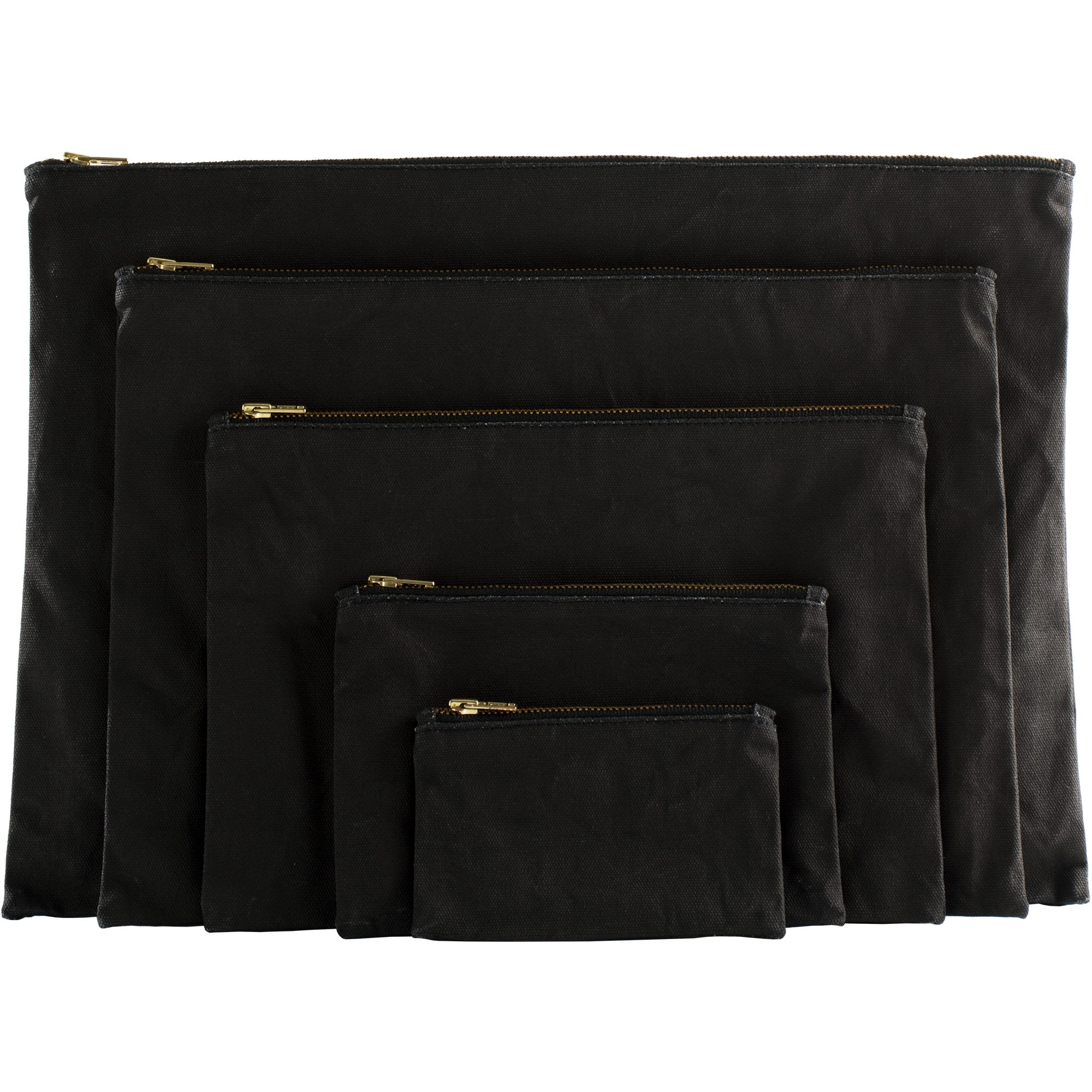 Set of Black Gesso Pouches