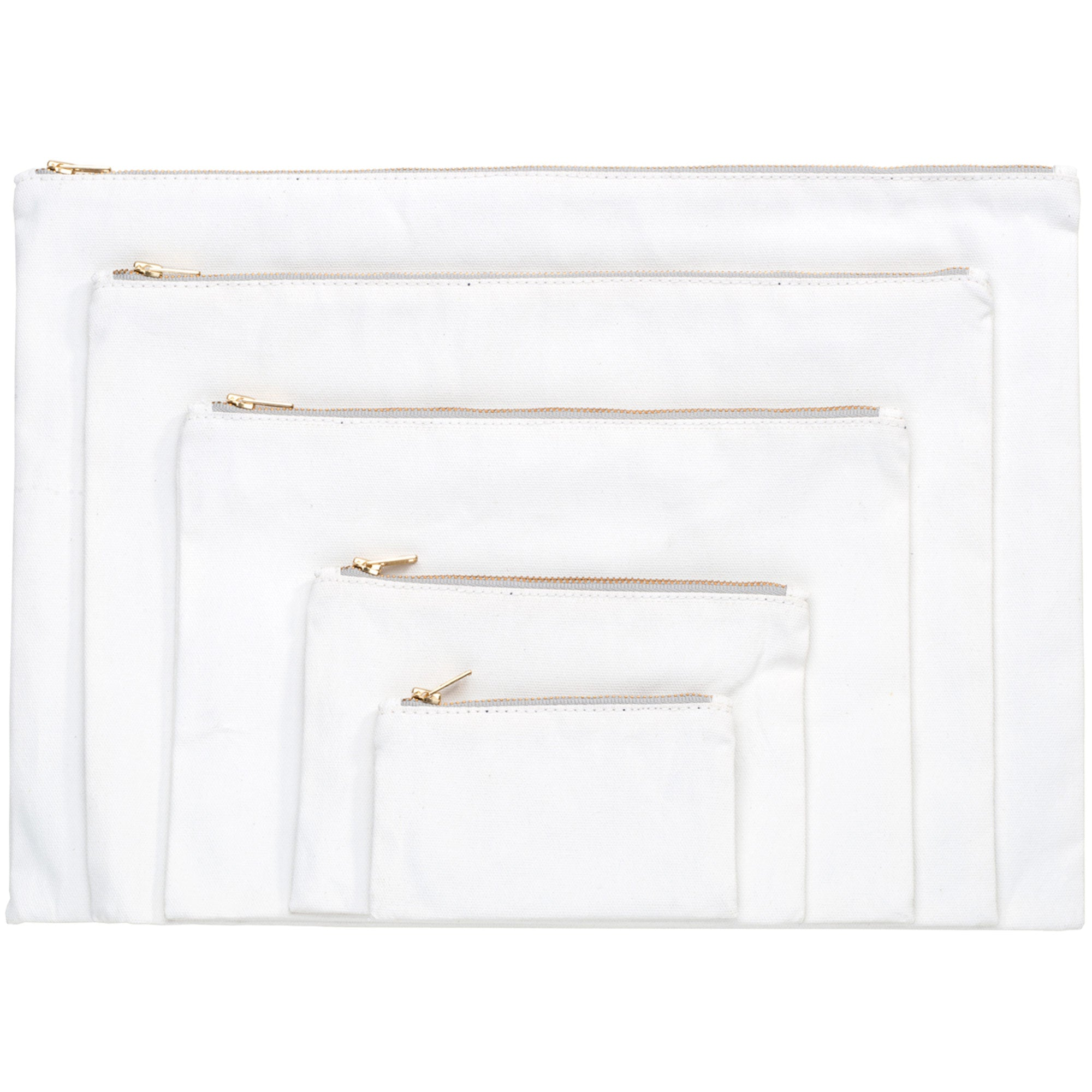 Set of White Gesso Pouches