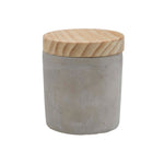 Tall Cement Cylinder Candle