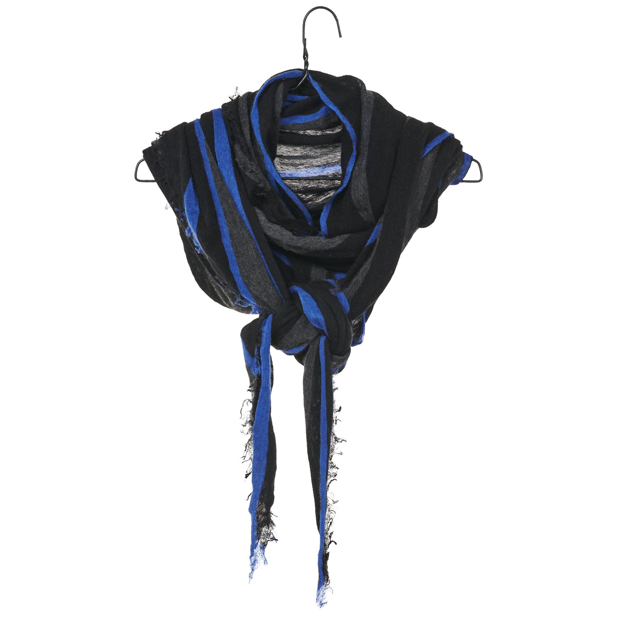 Diamond Scarf - Charcoal/Blue