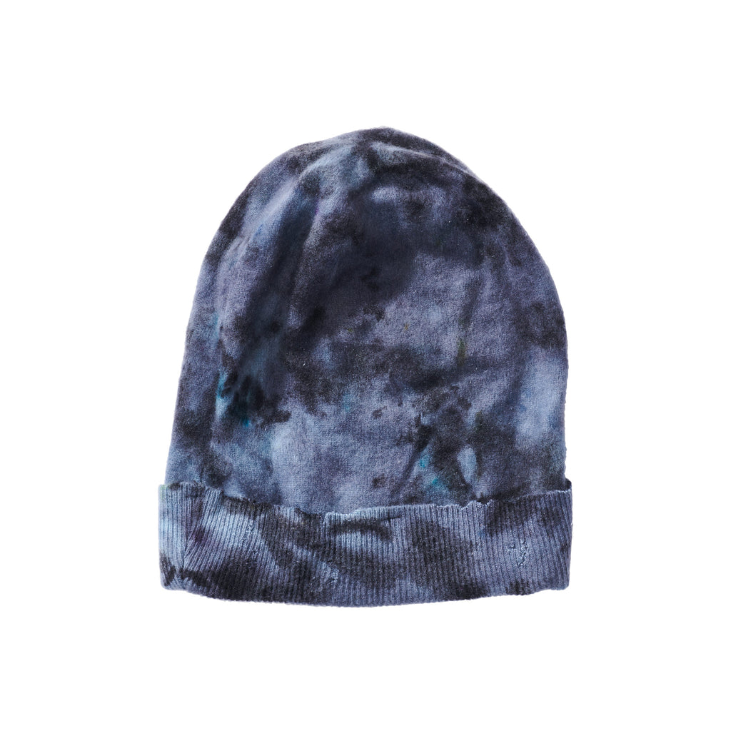 Folded Brim Knit Hat - Grey