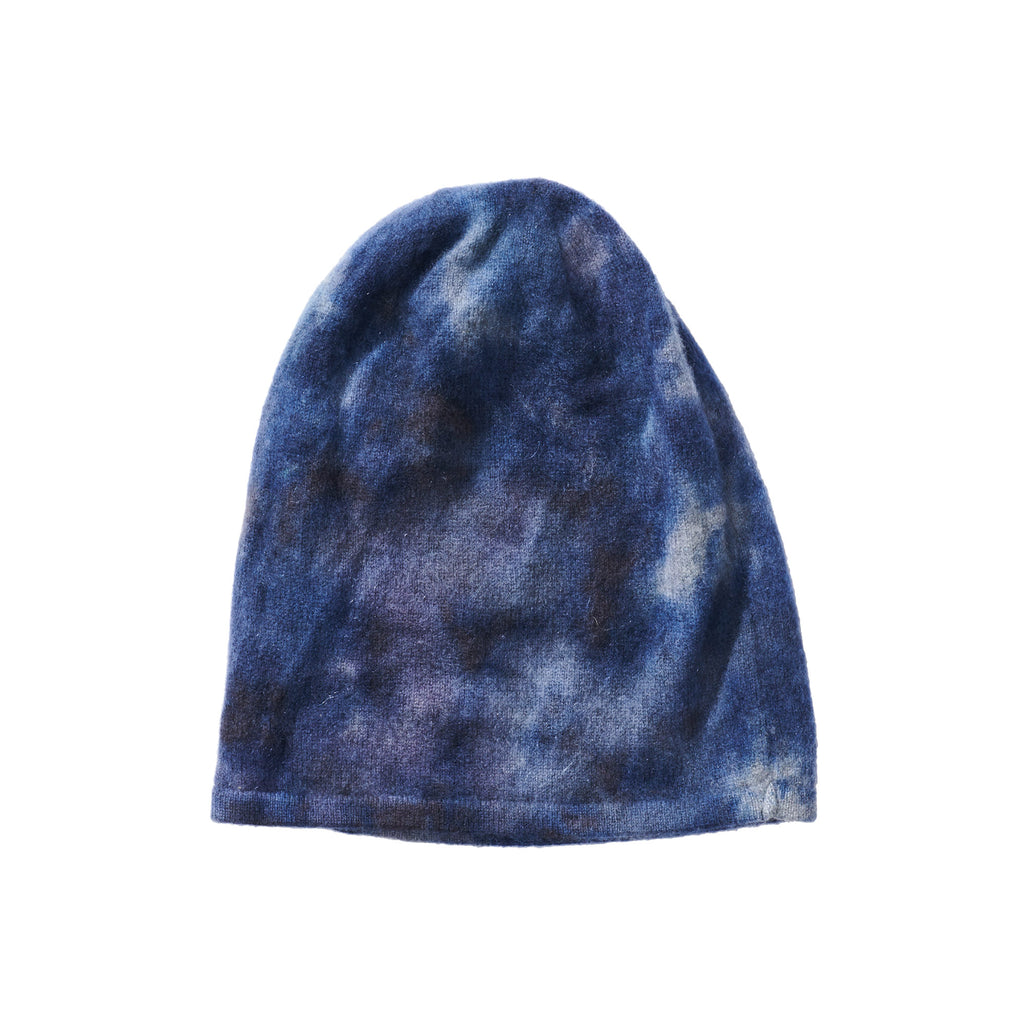 Rounded Brim Knit Hat - Blue