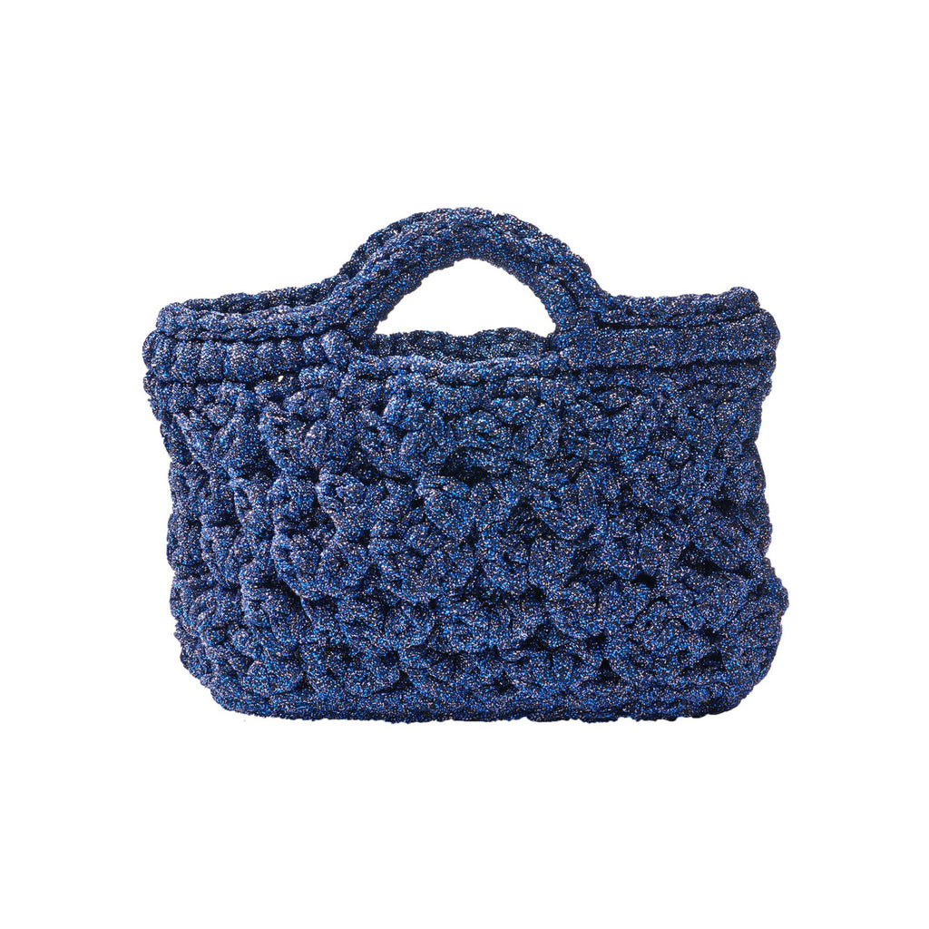 Bianca Lamé Bag - Blue