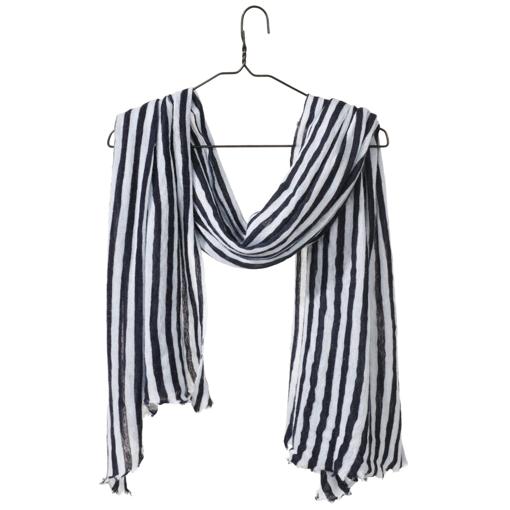 Striped Melange Scarf