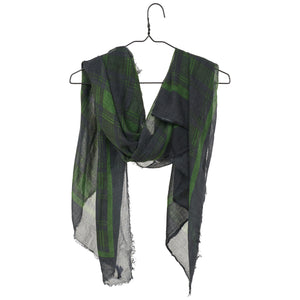 Lina Scarf - Green Plaid