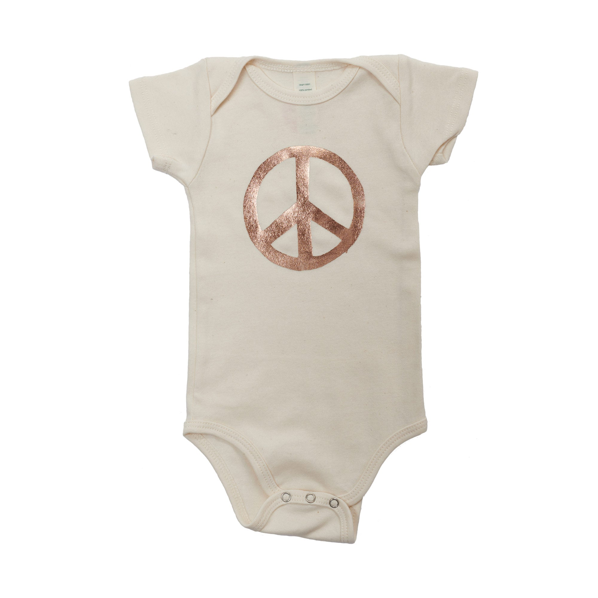 Rose Foil Peace Sign Onesie
