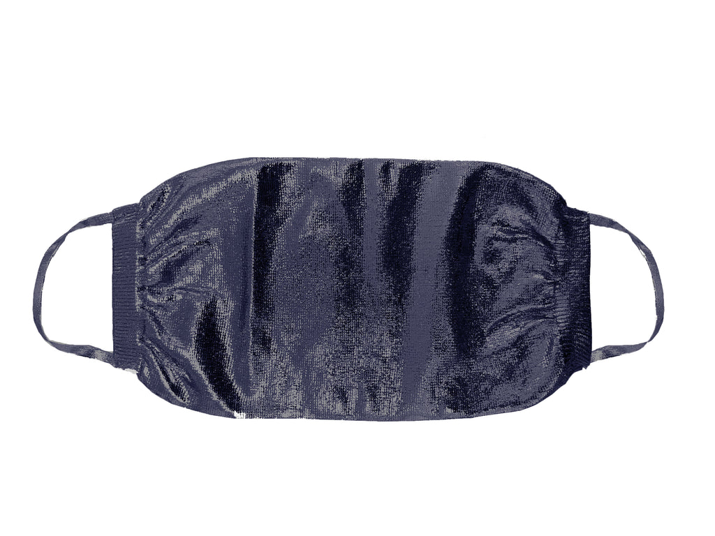 Metallic Silk Mask - Navy