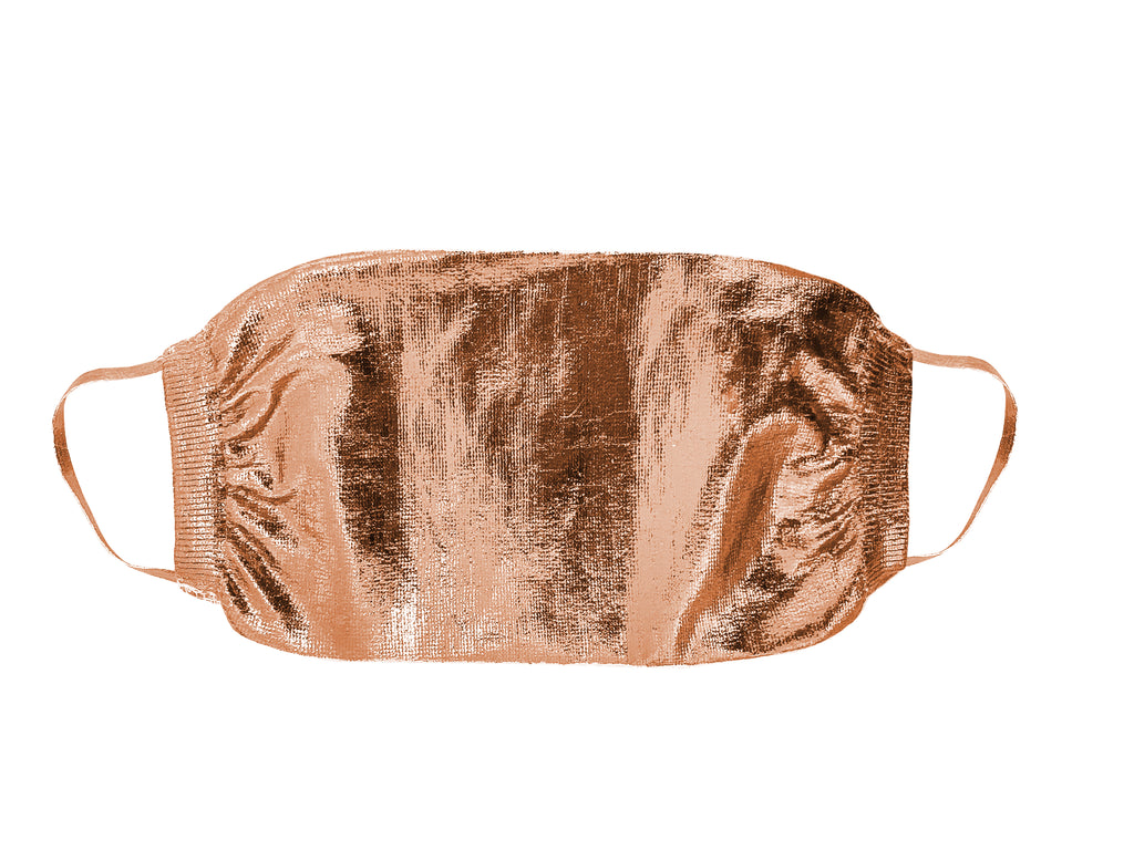 Metallic Silk Mask - Light Rosa