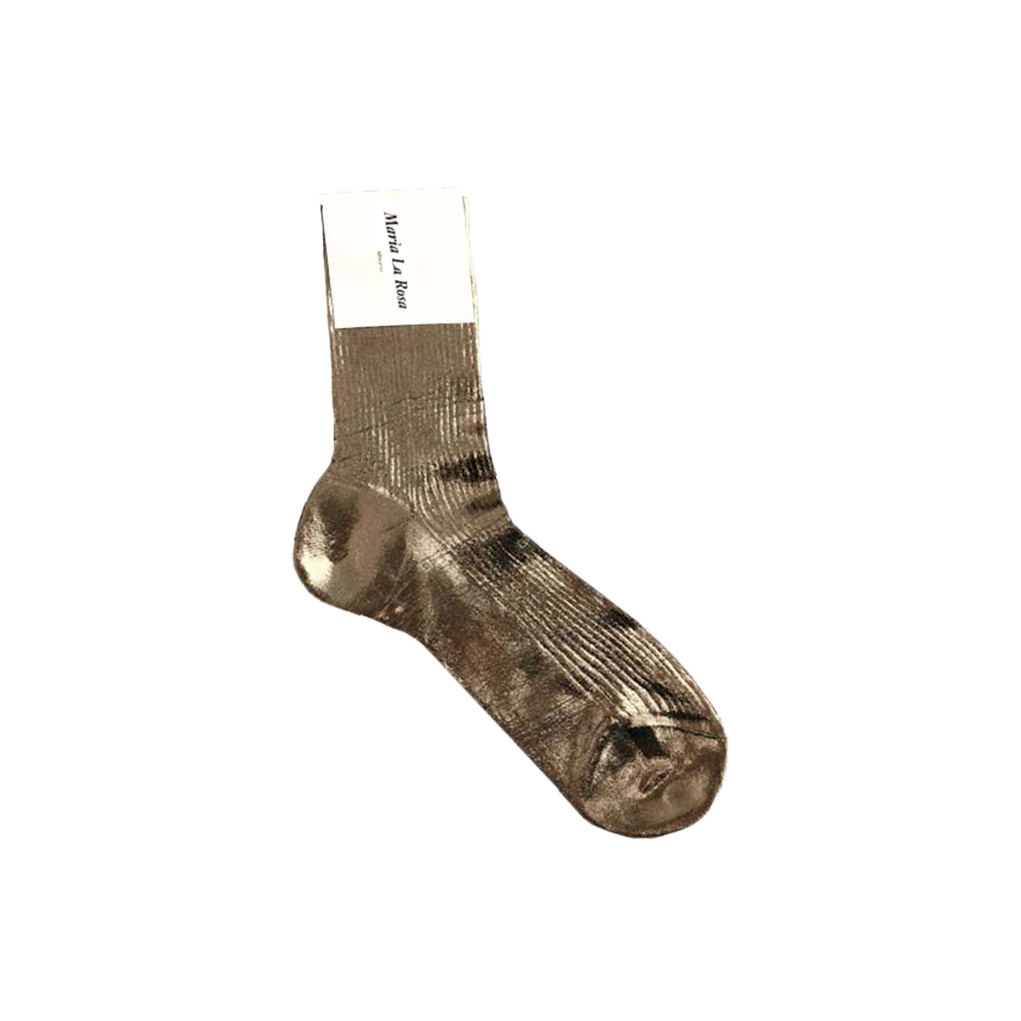 Ribbed Metallic Socks