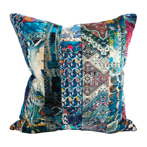 Italian Velvet Patchwork Pillow