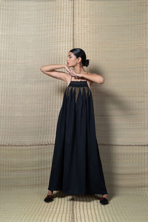 Maira Dress - Black & Gold
