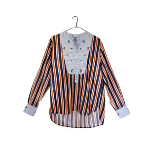 Embroidered Blouse - Stripe