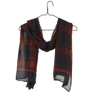 Lina Scarf - Red Plaid