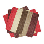 Striped Fique Placemat Set - Red Tones