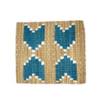 Patterned Fique Placemat Set - Turquoise