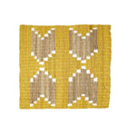 Patterned Fique Placemat Set - Yellow